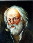 El viejo de barba blanca